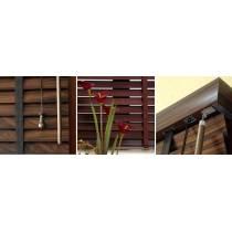 Деревянные горизонтальные жалюзи 50 мм с тесьмой в Бресте