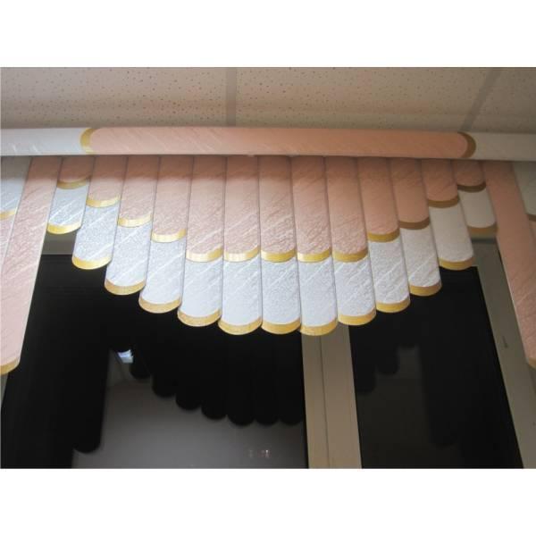 Вертикальные тканевые мультифактурные жалюзи с ламбрекеном в Бресте