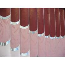 Вертикальные тканевые мультифактурные жалюзи с декоративными элементами в Гродно