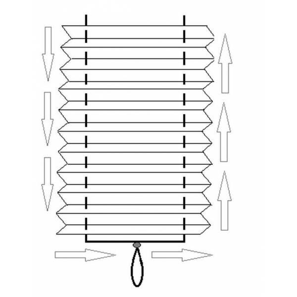 Бумажные жалюзи плиссе